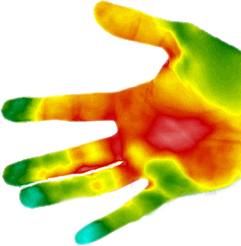 hand thermo image